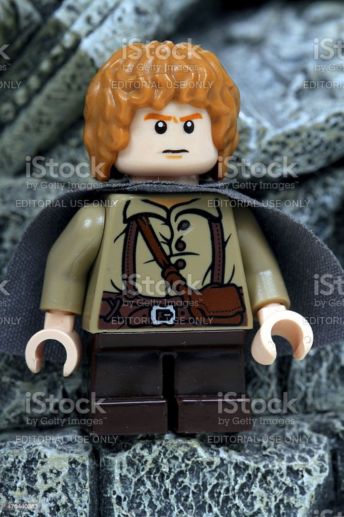 Samwise in the Ruins of Moria stock photo
