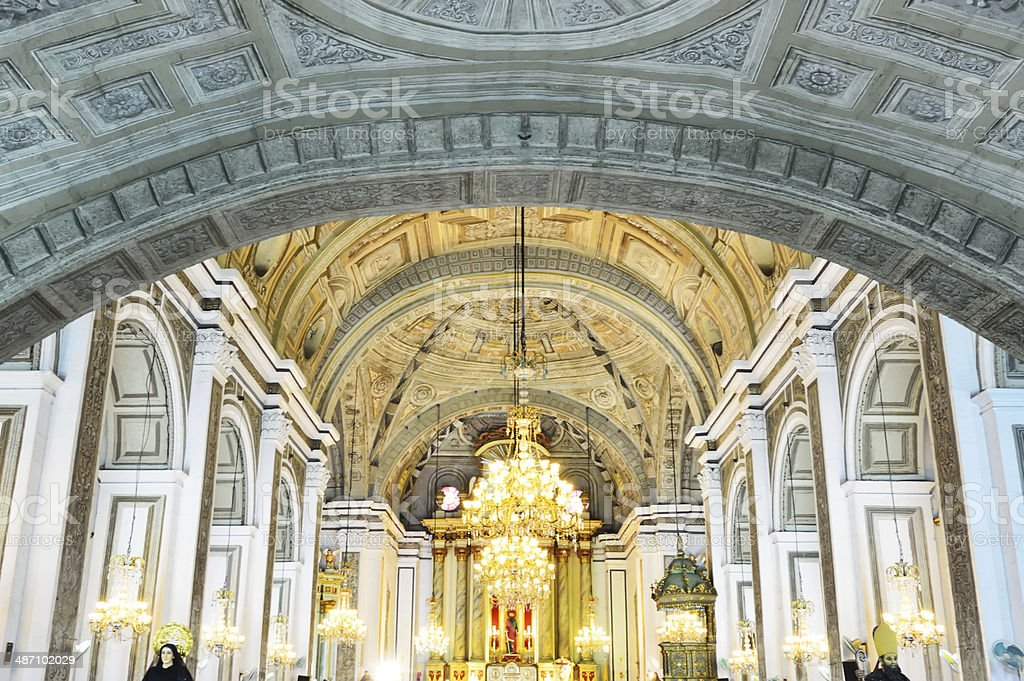 San Agustin Church royalty-free stock photo