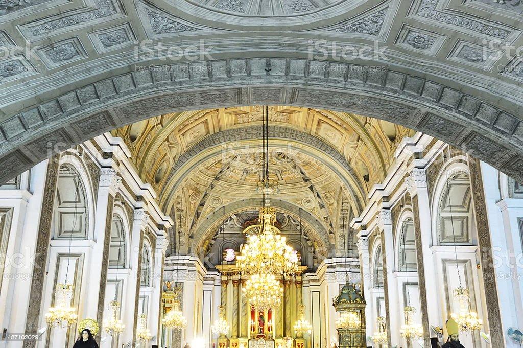San Agustin Church stock photo