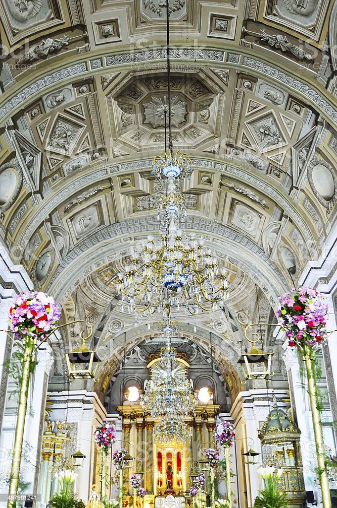 San Agustin Church royalty-free stock photo