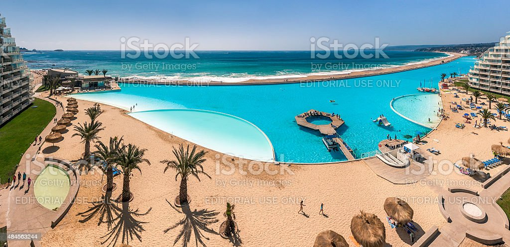 San Alfonso del Mar stock photo