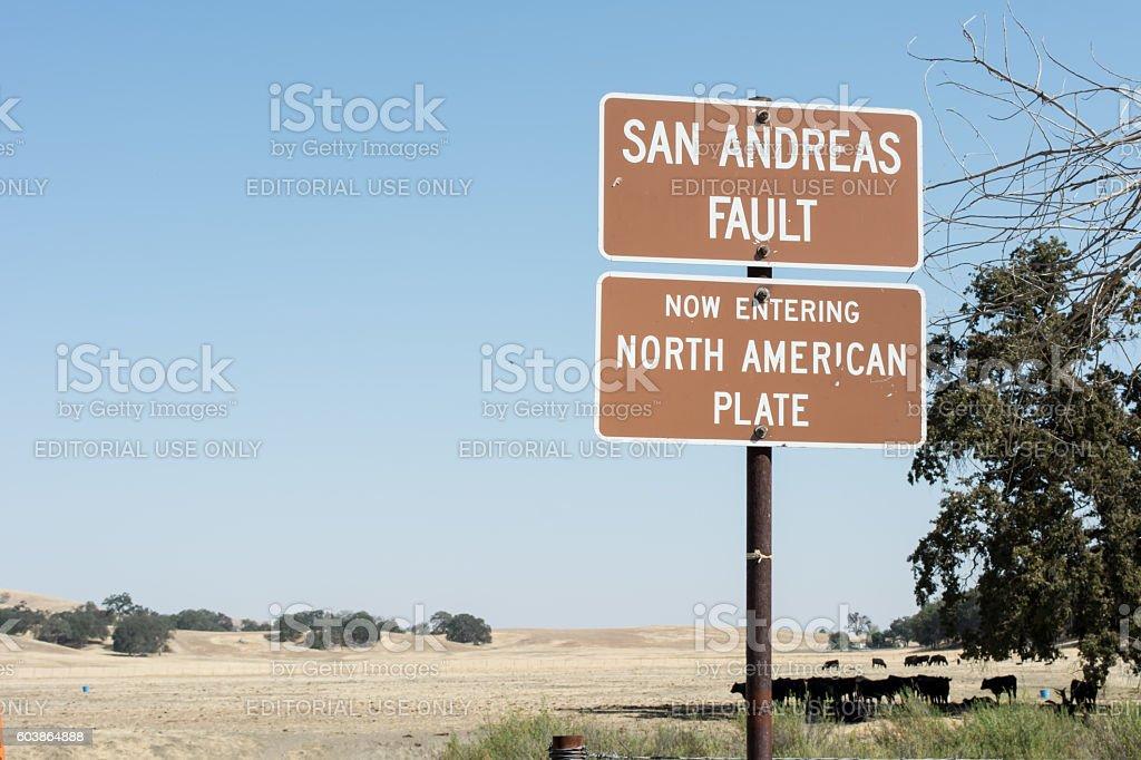 San Andreas Fault stock photo