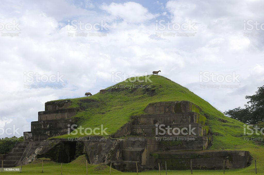 San Andres Archaelogical Site El Salvador royalty-free stock photo