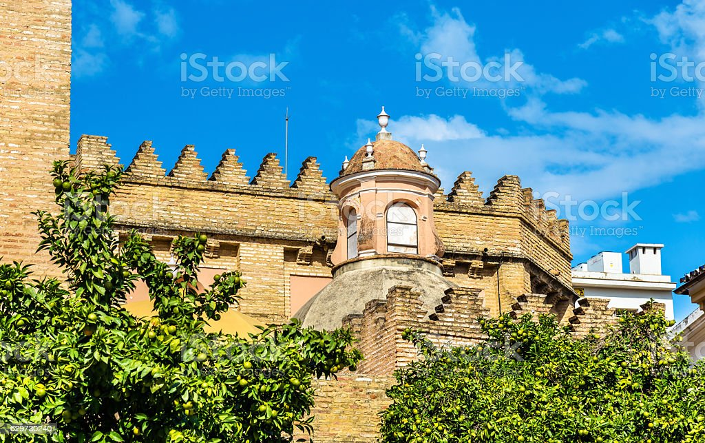 San Andres Church in Seville, Spain stock photo