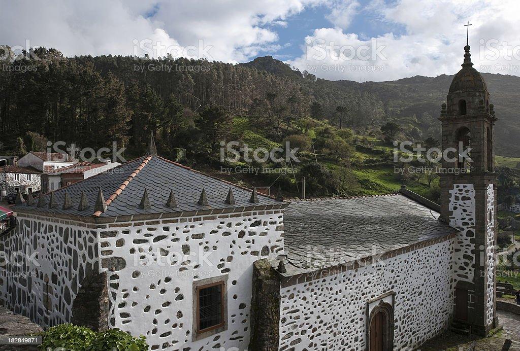 San Andres de Teixido Church stock photo