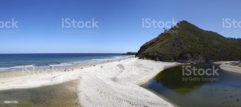 San Antolin Beach, Llanes, Asturias, Spain stock photo