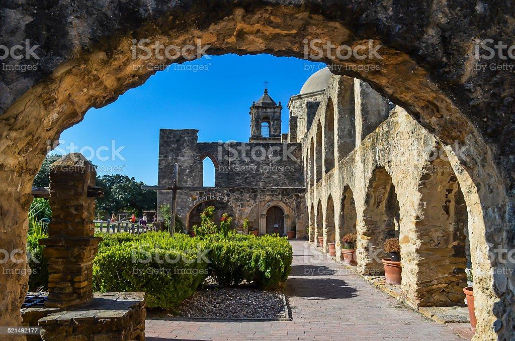 San Antonio Mission San Jose stock photo
