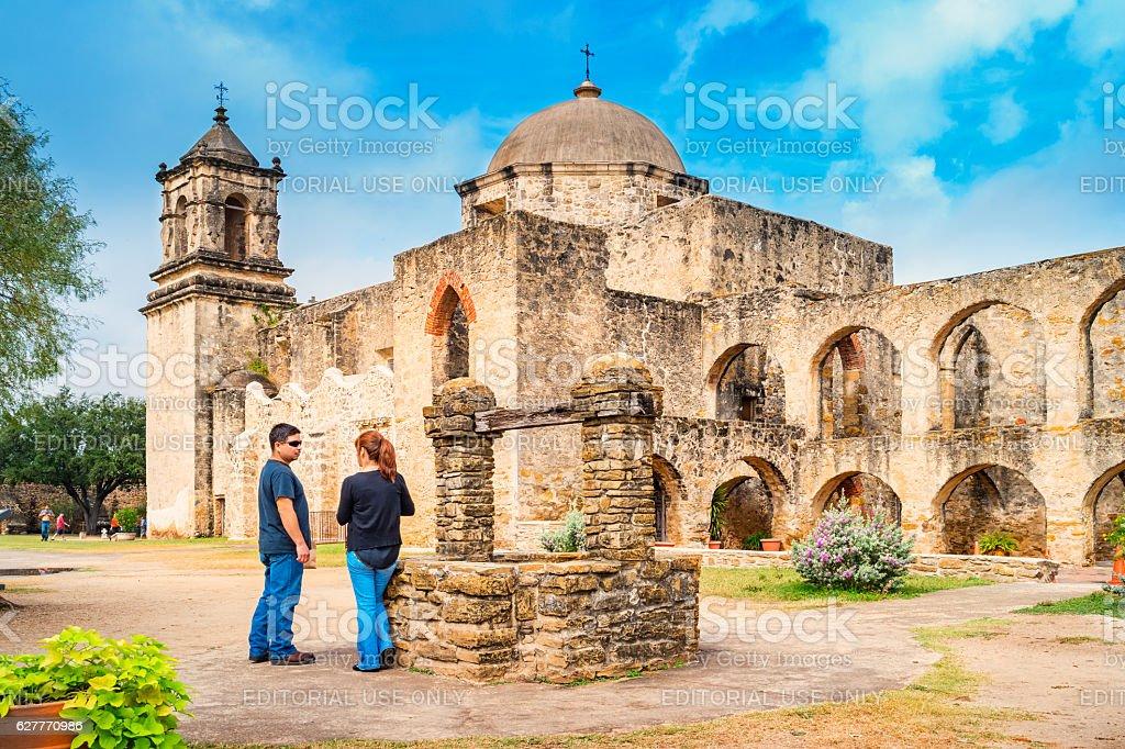 San Antonio Missions Mission San Jose Texas USA stock photo