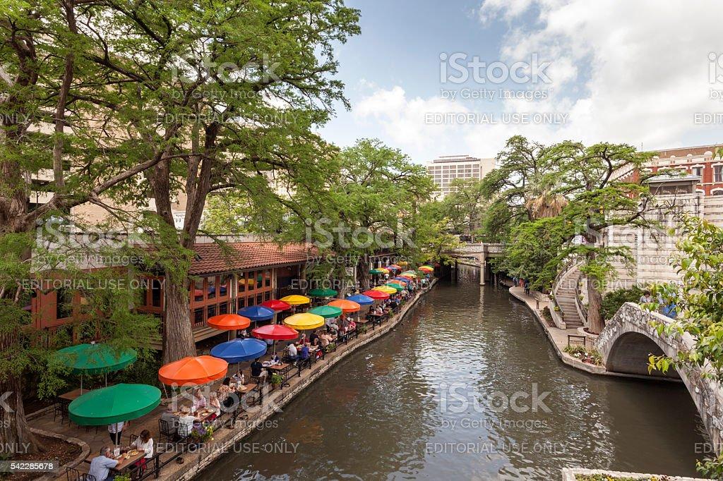 San Antonio River Walk, Texas stock photo