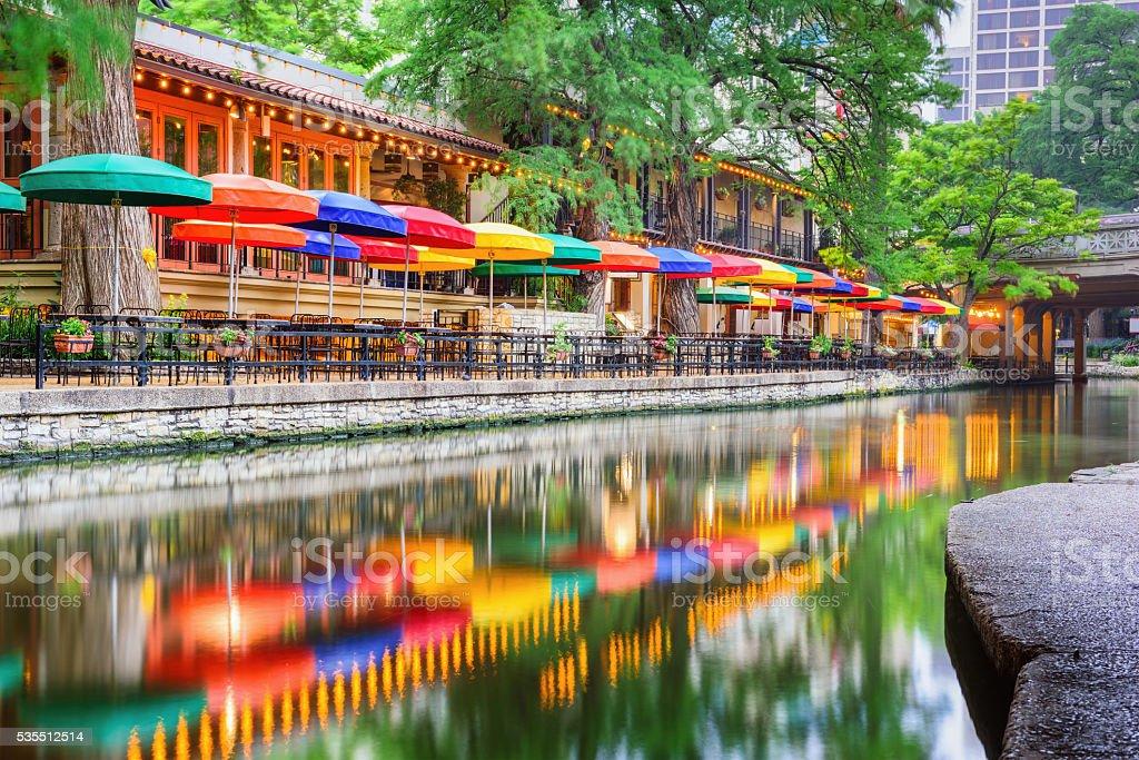 San Antonio Riverwalk stock photo
