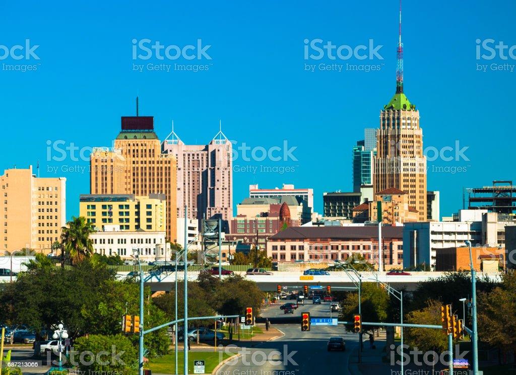 San Antonio Skyline Closeup View stock photo