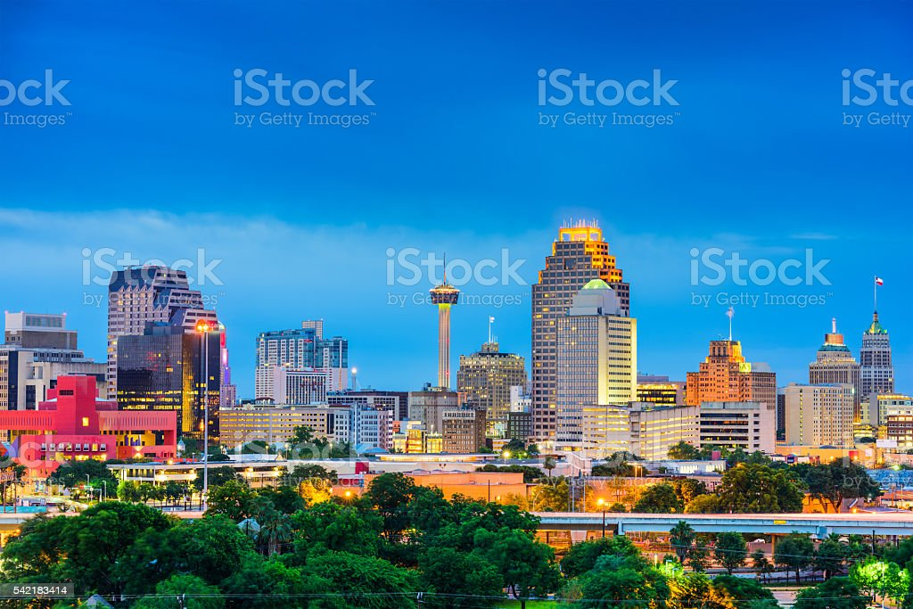 San Antonio Texas Skyline stock photo