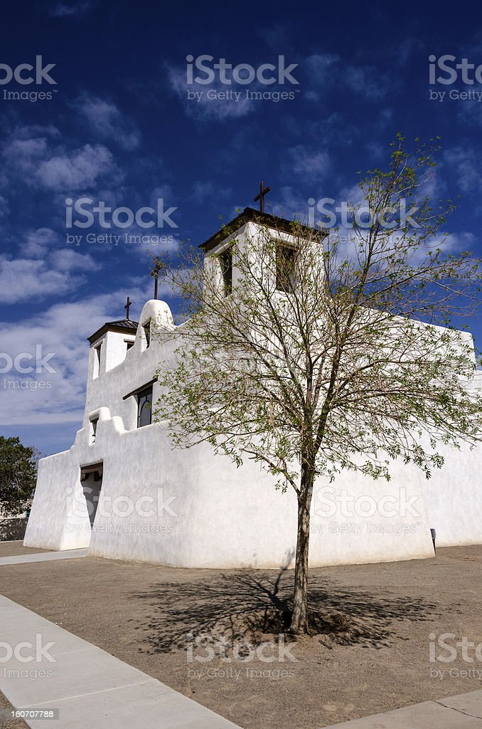 San Augistine Mission, Isleta Pueblo, New Mexico stock photo