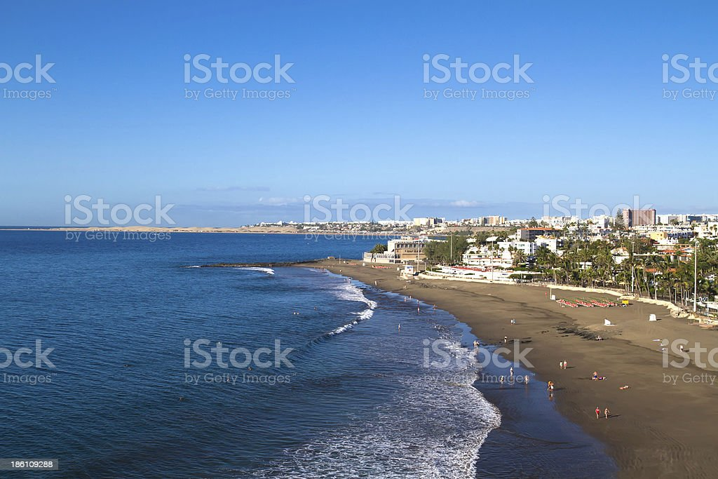 Playa de San Augustin, Gran Canaria stock photo