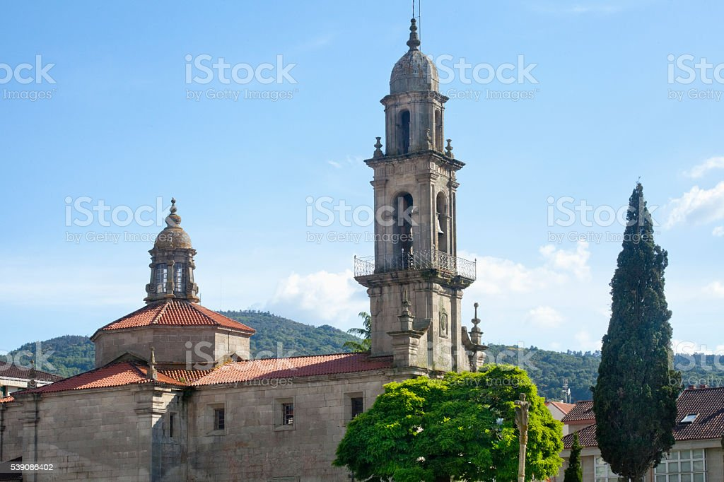 San Benito church, Allariz ,Spain. stock photo