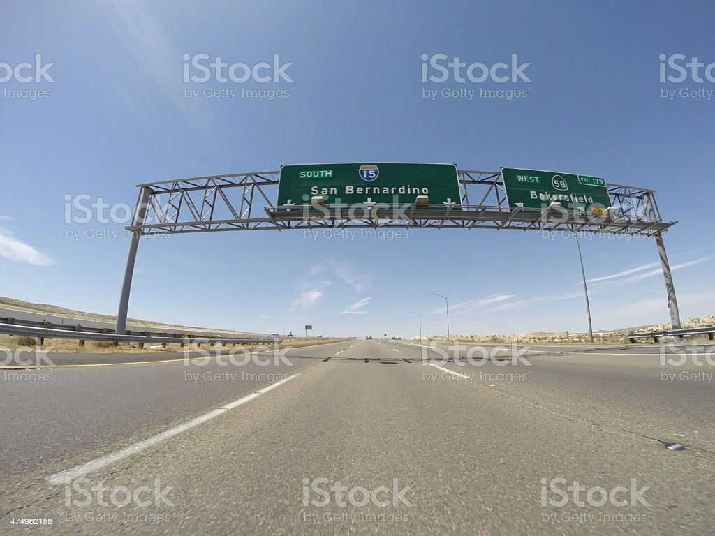 San Bernardino 15 Freeway stock photo