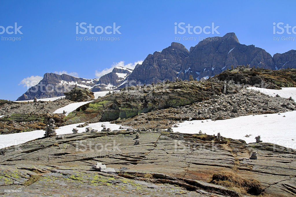 San Bernardino Pass stock photo