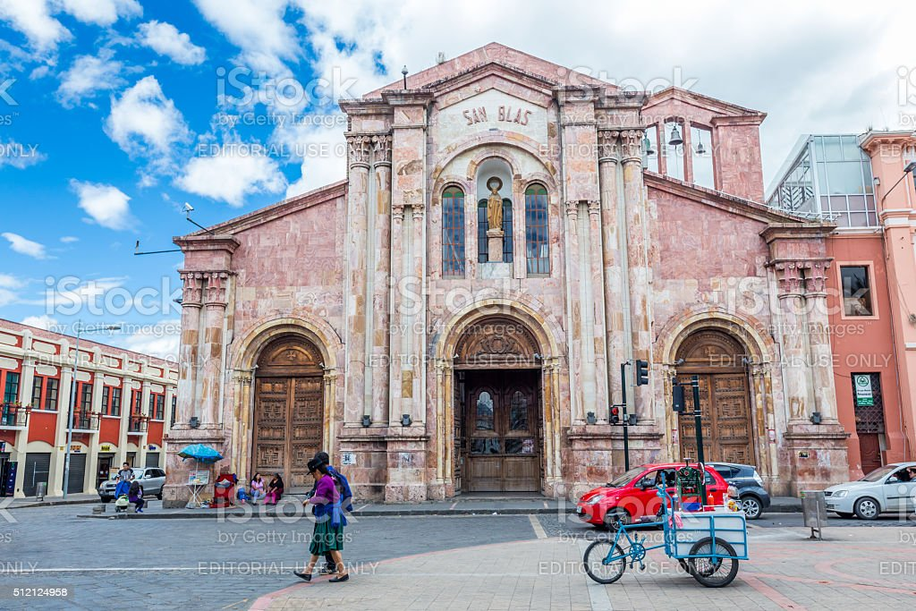 San Blas,Cuenca is the capital the Azuay Province stock photo