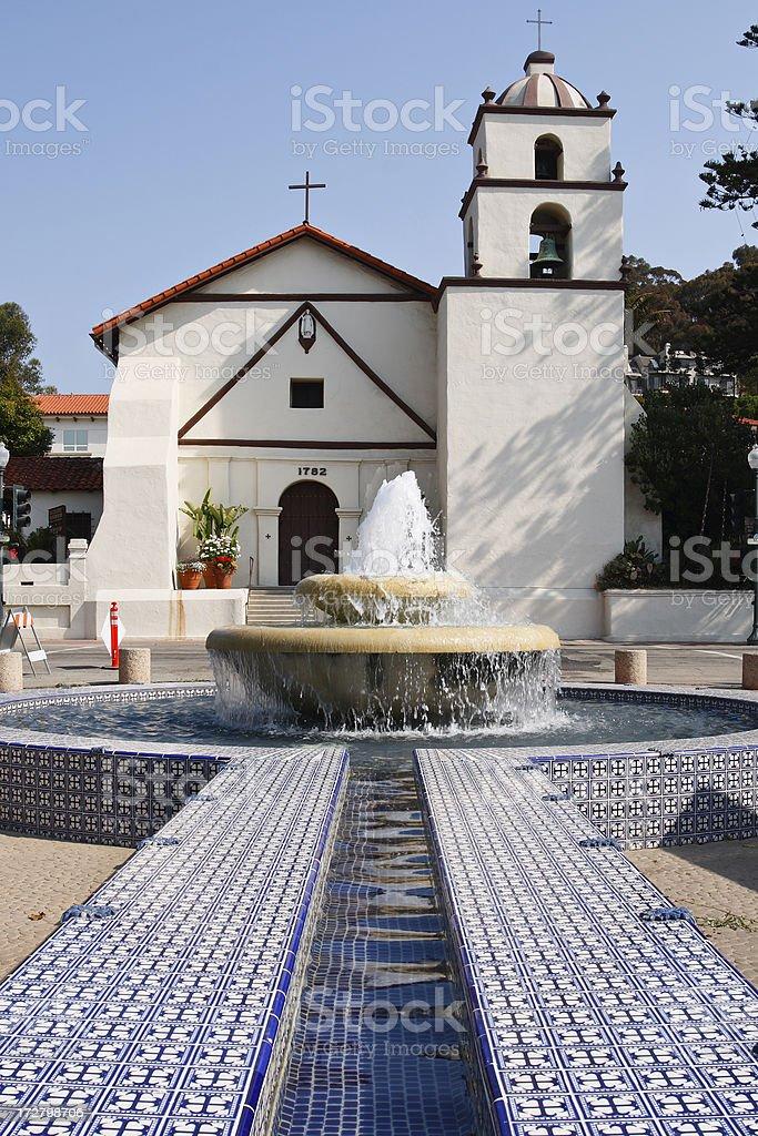 San Buenaventura Mission stock photo