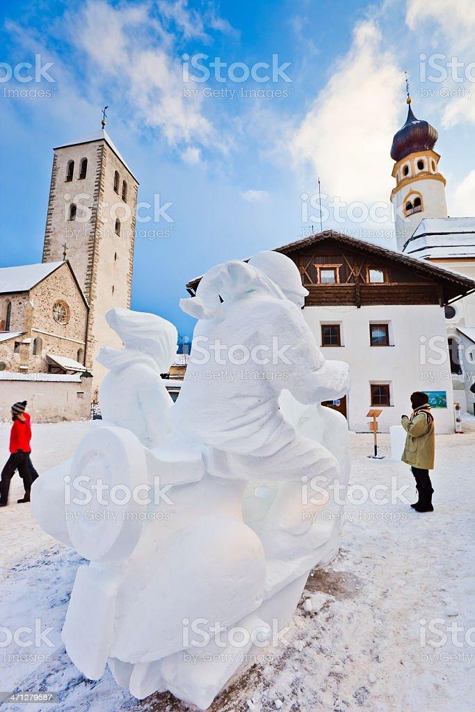 "San Candido Snow Festival, ""A Real Italian Icon"" stock photo"