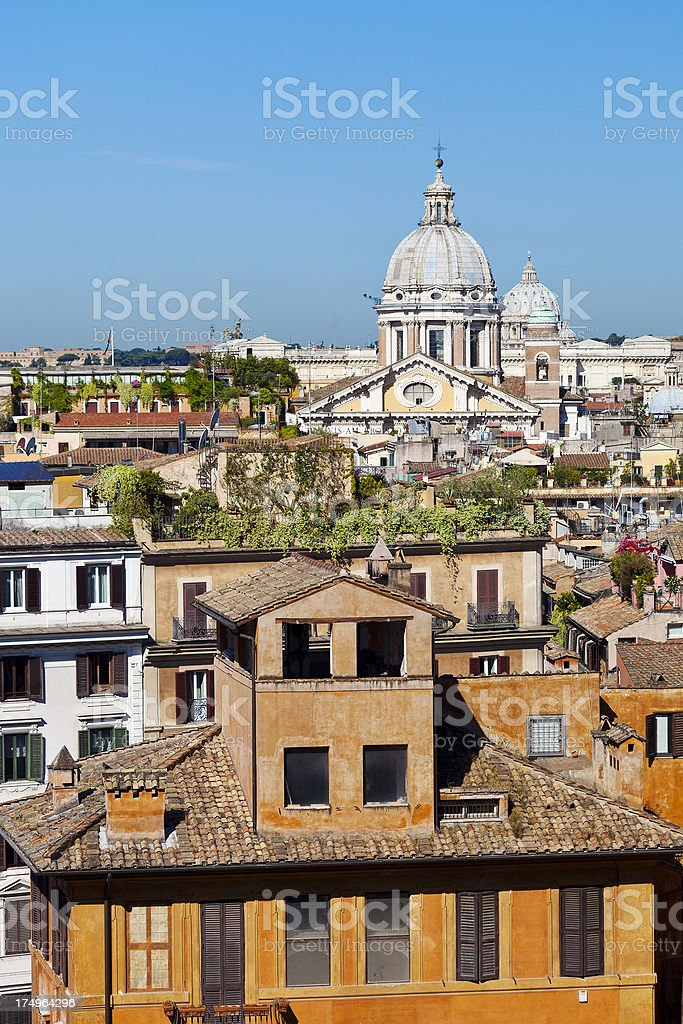 'San Carlo Al Corso Church In Rome, Italy' stock photo