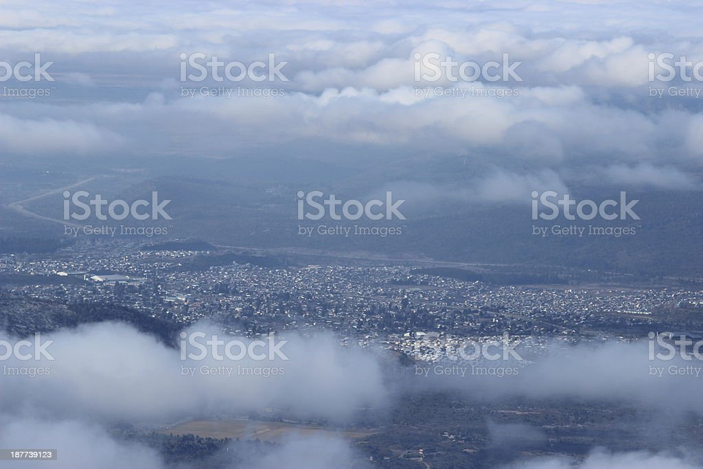 San Carlos de Bariloche - Aerial view stock photo