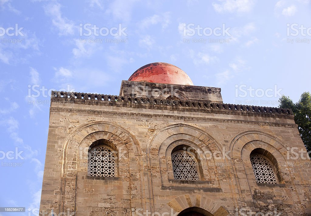 San Cataldo, Norman church in Palermo stock photo