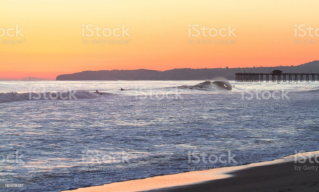 San Clemente Sunset stock photo