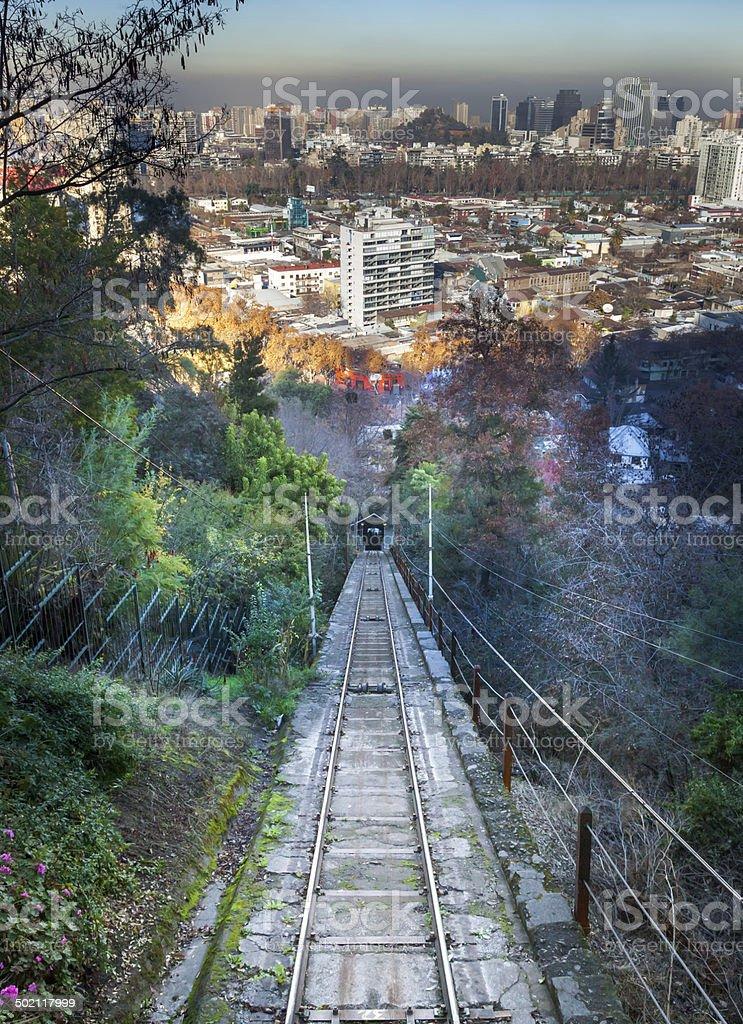 San Cristobal hill, Santiago, Chile stock photo