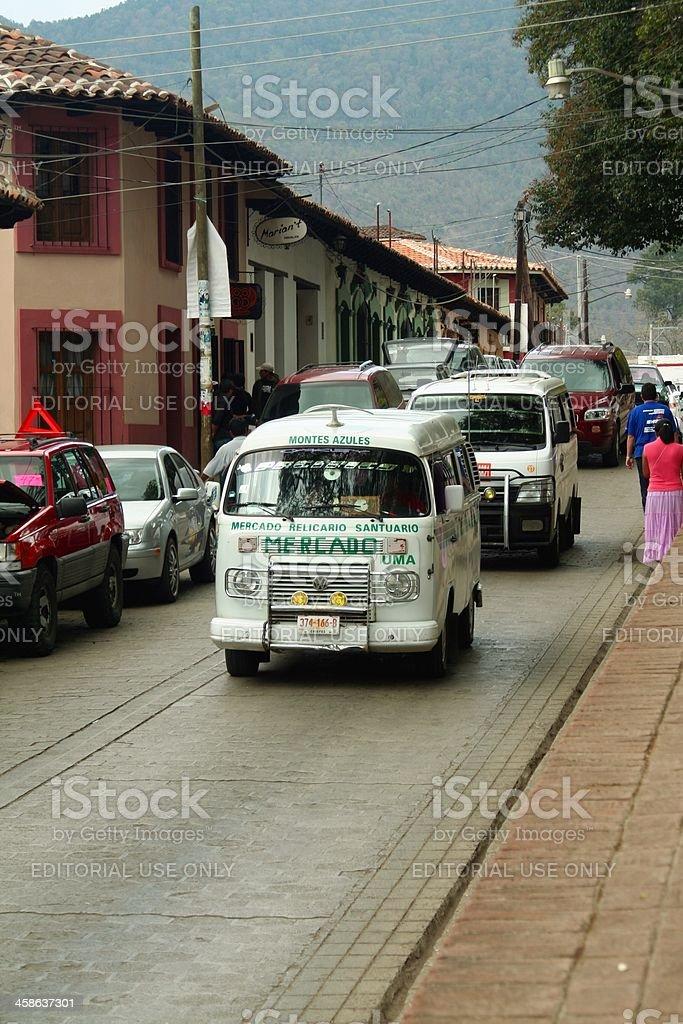 San Cristobal street scene royalty-free stock photo