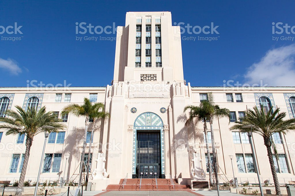 San Diego Administration Center stock photo