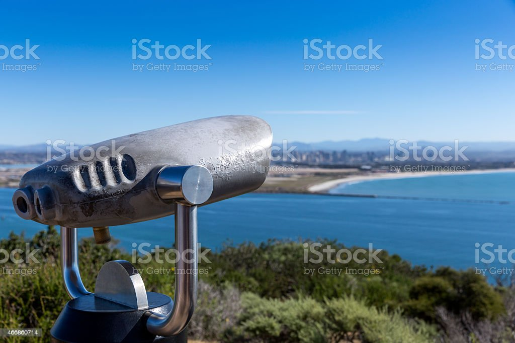 San Diego and Coronado Island View from Point Loma stock photo