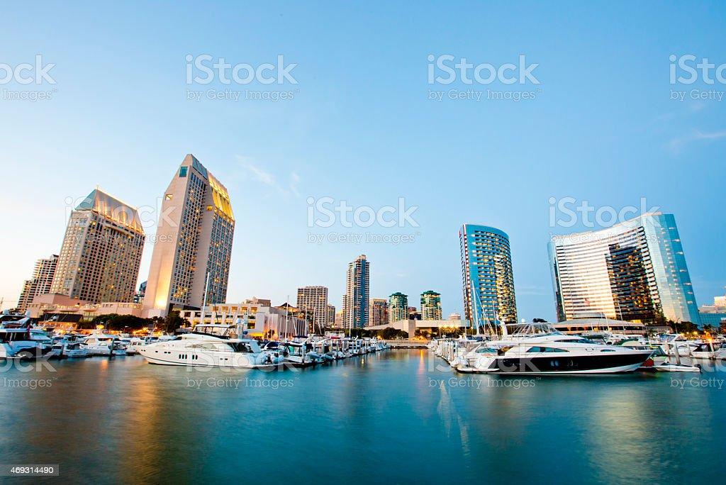 San Diego at Dusk stock photo