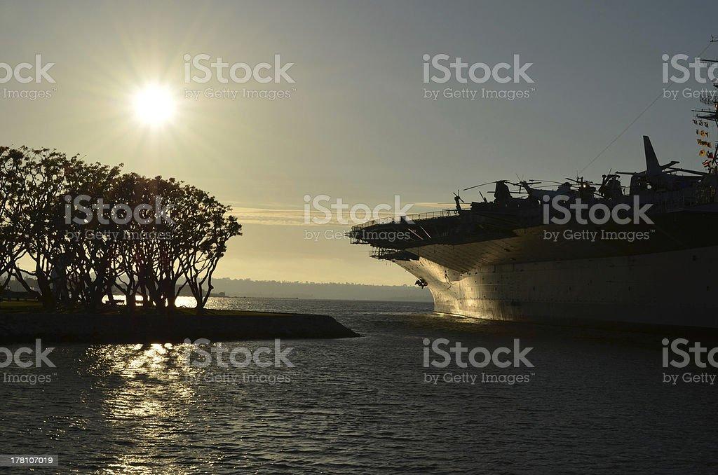San Diego Bay at Sunset stock photo