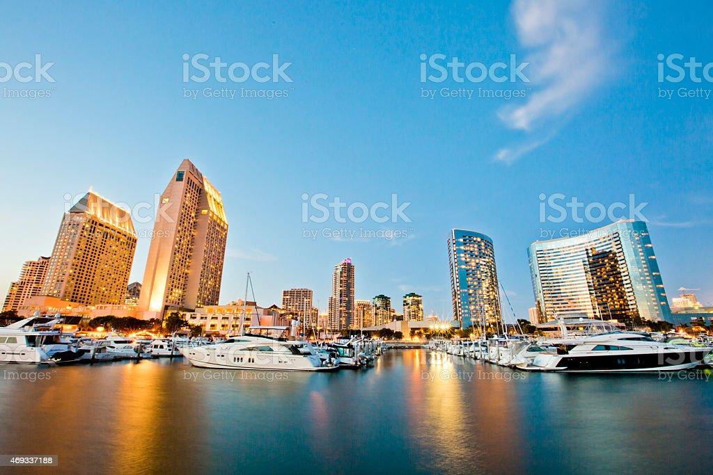San Diego By Night stock photo