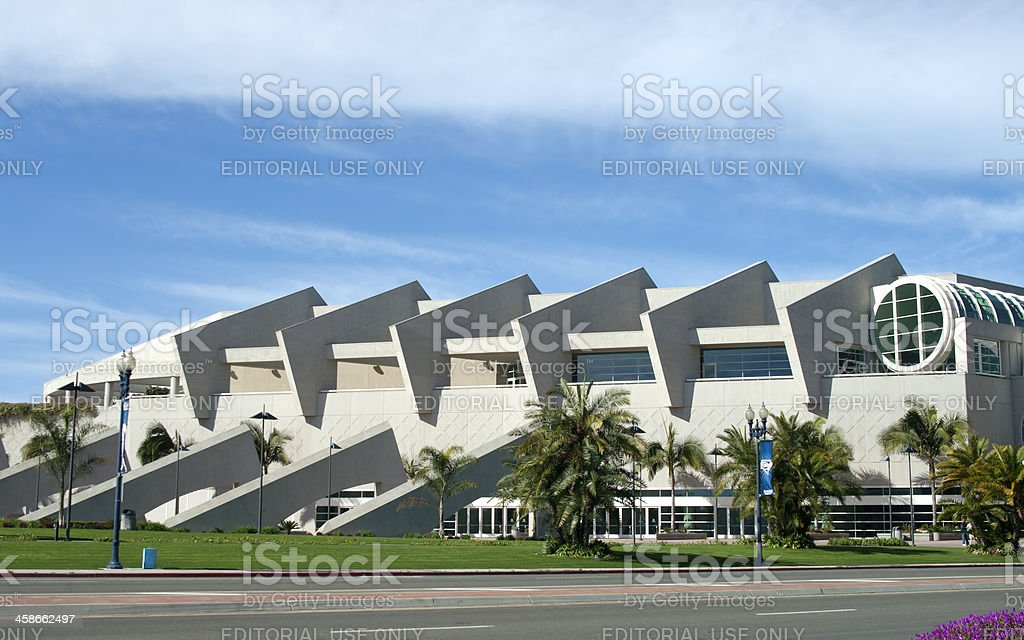 San Diego California Convention Center Art and walkways stock photo