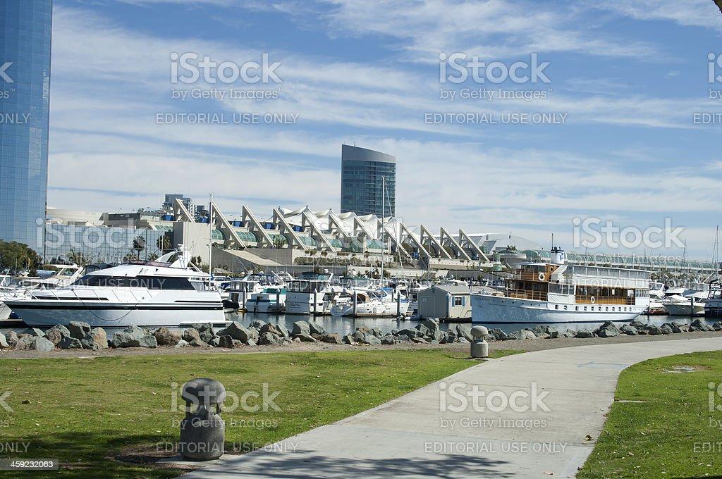 San Diego California Convention Center Walkways stock photo