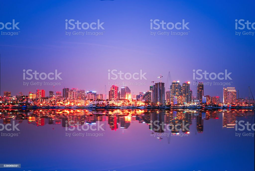 USA San Diego Cityscape stock photo