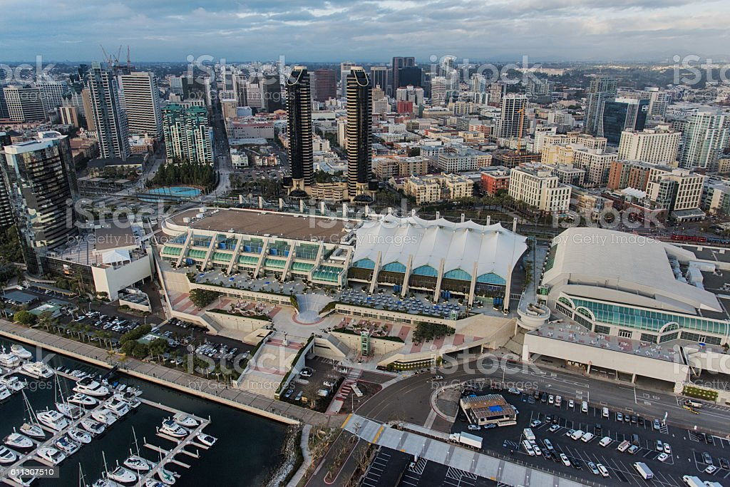 San Diego Convention Center Aerial stock photo