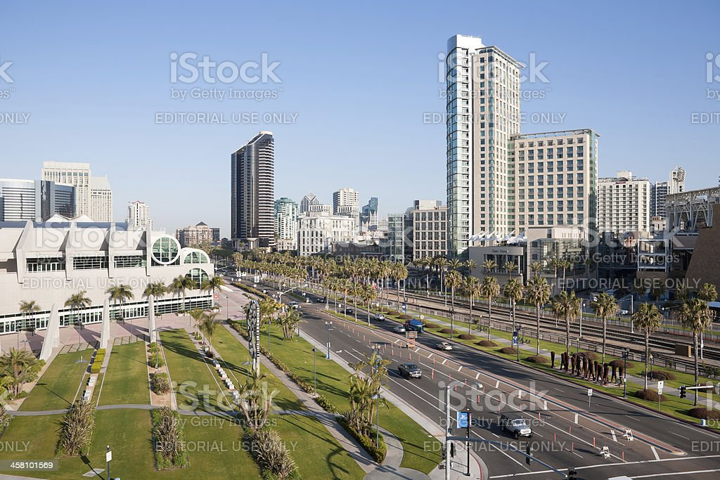 San Diego Convention Center and Downtown stock photo