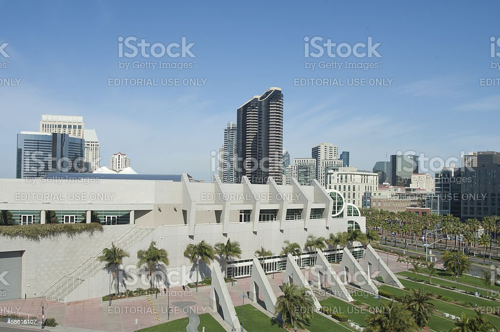 San Diego Convention Center View royalty-free stock photo