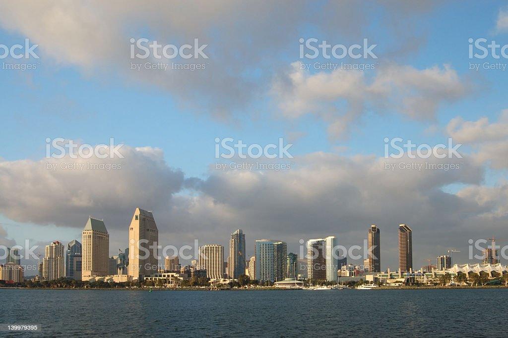 San Diego Downtown Skylines stock photo