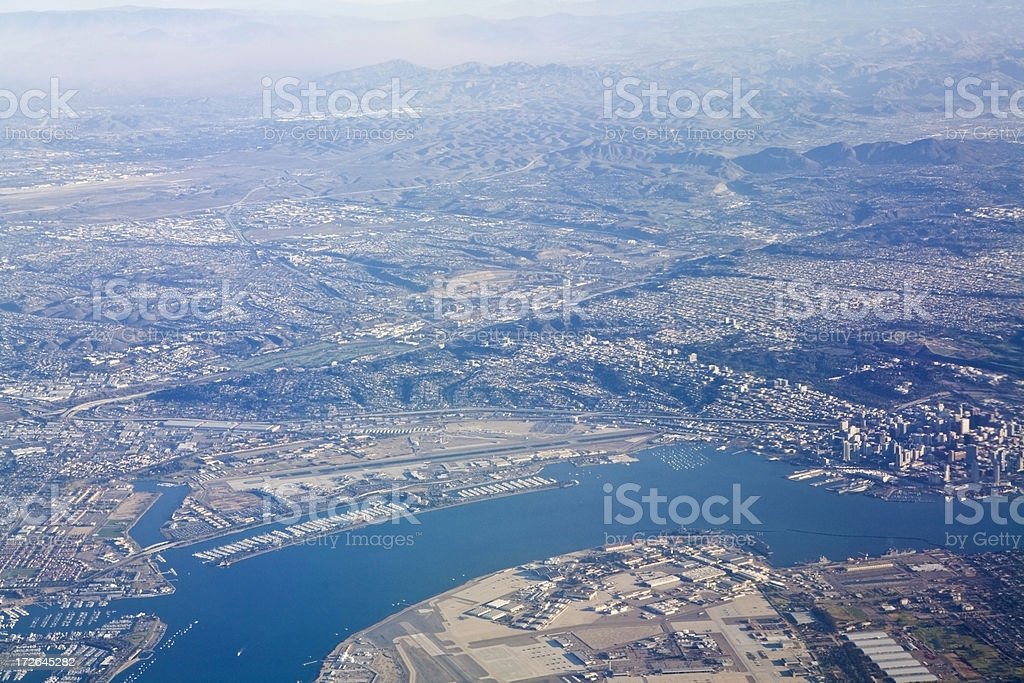 San Diego From The Sky royalty-free stock photo