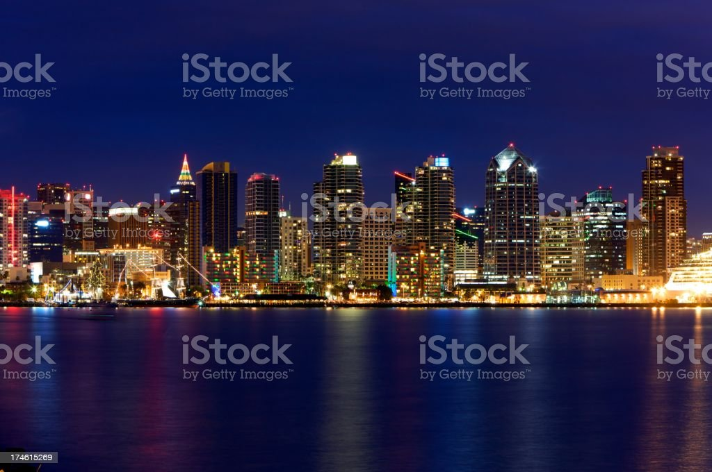 San Diego Harbor and Skyline royalty-free stock photo