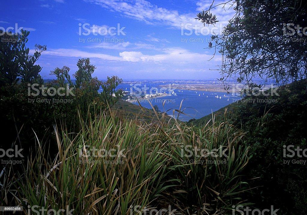 San Diego harbor stock photo