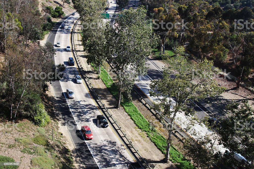 San Diego highway (State Route 163) stock photo