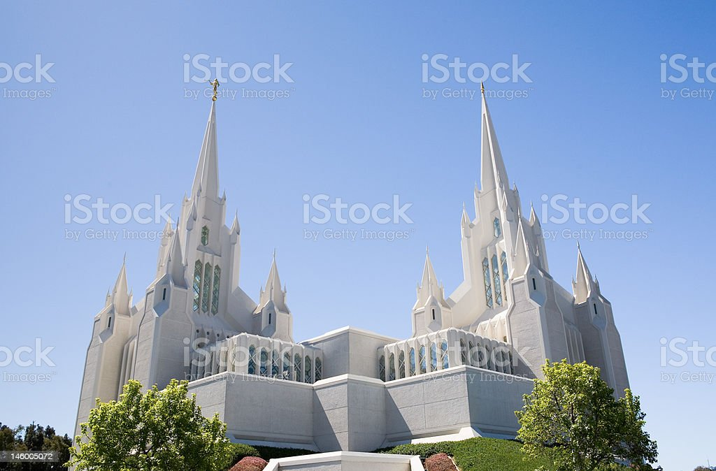 San Diego LDS Temple stock photo