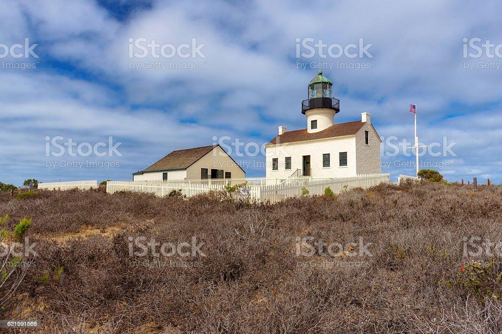 San Diego Lighthouse stock photo