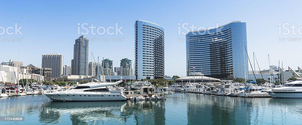 San Diego marina bay skyline royalty-free stock photo