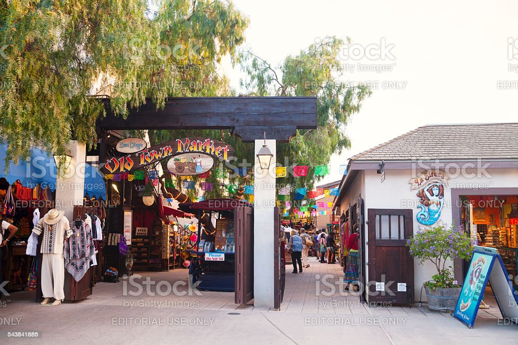 San Diego Old Town Market entrance stock photo